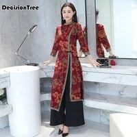 2019 summer asian clothing aodai vietnam cheongsam more feminine dress for women chinese traditional dress
