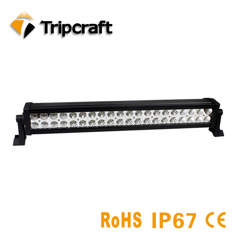 Tripcraft IP67 waterproof 120W 21inch LED Light Bar two rows for Work Driving Boat Car Truck 4x4 SUV ATV Off Road Fog Lamp tripcraft 2pcs 51w led work light super bright car driving lamp for offroad boat truck trailer suv atv led fog light spot flood