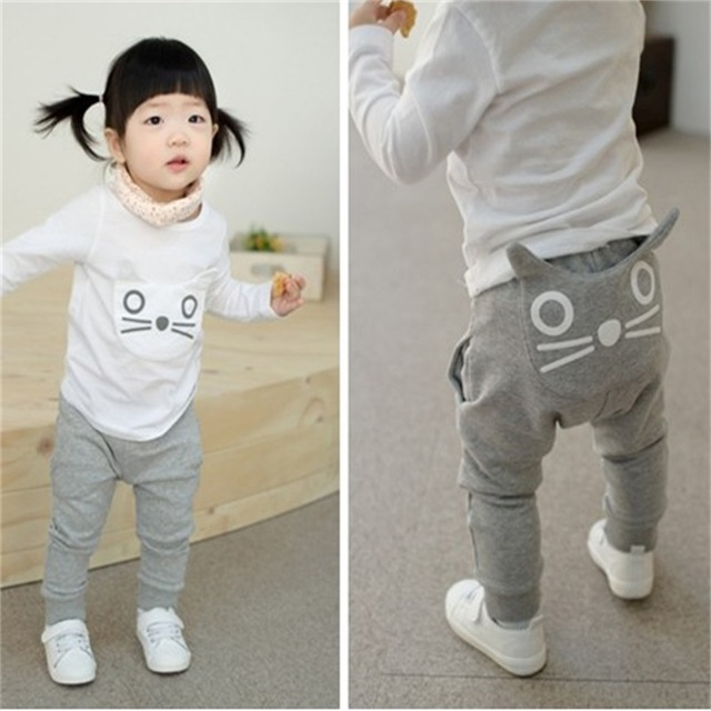 0b018bfe060 TANGUOANT Retail hot sale spring and autumn kids clothing boys girls harem  pants cotton owl trousers baby pants free shipping worldwide