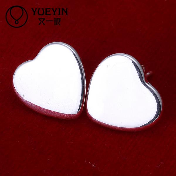 Wholesale Retail women 925 sterling silver stud earrings wedding party jewelry Inlaid Crystal orecchini Inlaid stone золотые серьги по уху