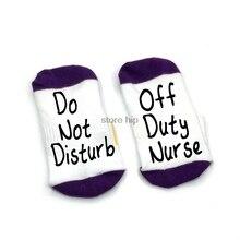 Off Duty Nurse Socks Cotton Comfortable Unisex