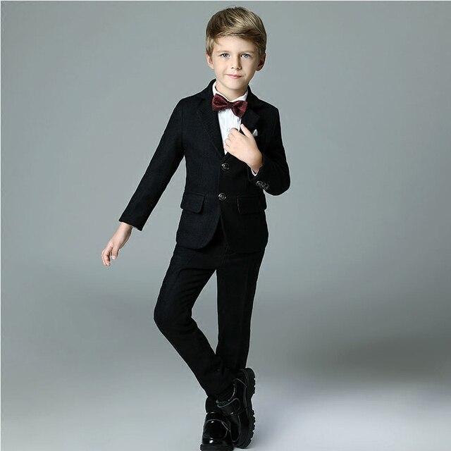 2018 spring nimble boys formal suits for weddings solid black blazer ...