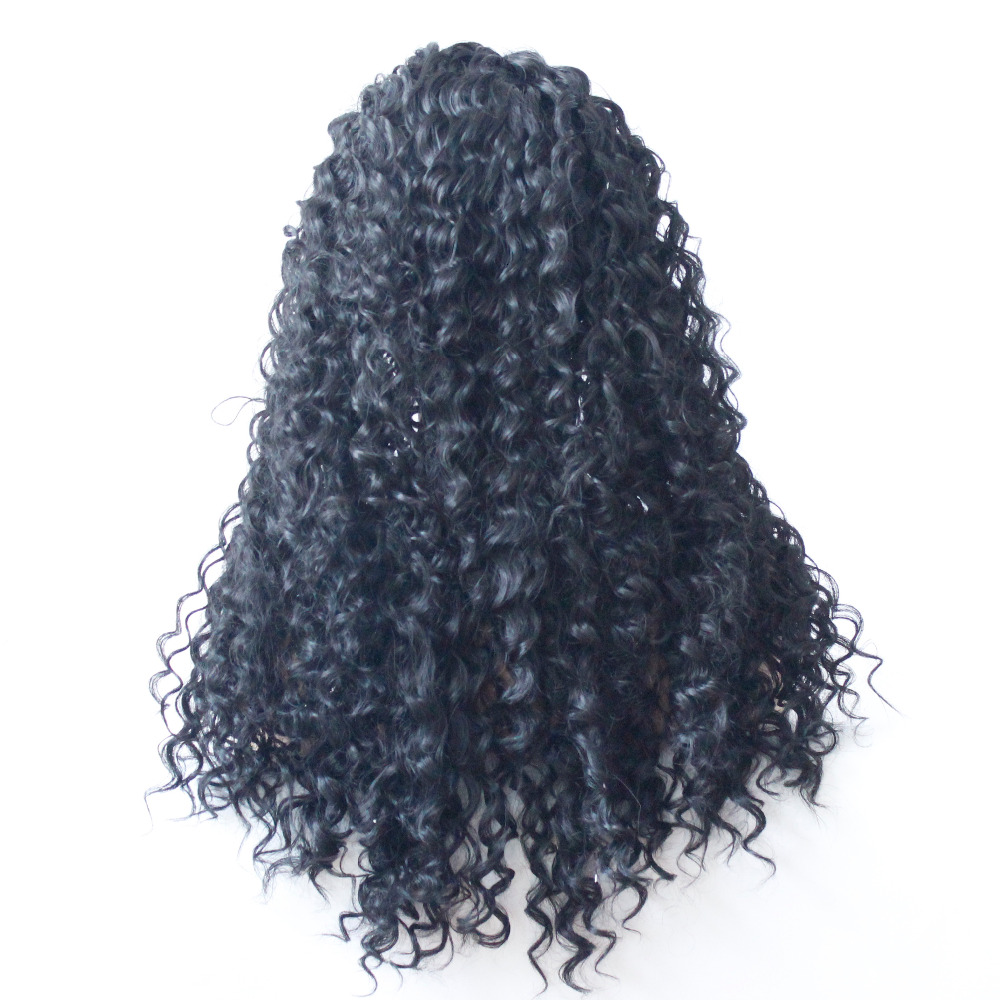 VNICE #1B Synthetic Lace Front Wigs Natural Black Curly Hairstyle Heat Resistant Fiber Hair for Black Woman Free Part Curly Wig