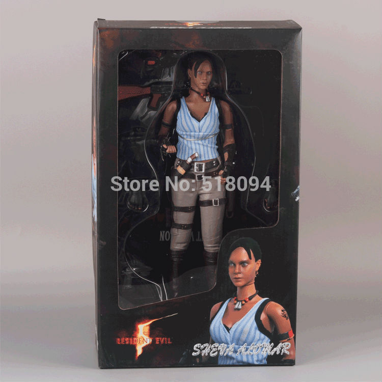 Free Shipping Resident Evil 5 Sheva Alomar PVC Action Figure Collectible Model Toy 12 30CM MVFG164 22cm one piece koala with sabo hat den den mushi pvc action figure collectible model toy with box free shipping
