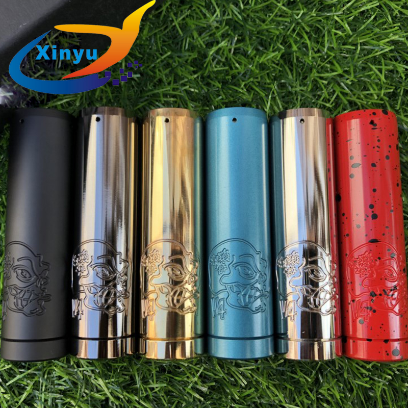 Pandora Back To Basics V4 Mod Mechanical Mod 18650/20700/21700 Battery 29mm Brass Vaporizer Mod Skull HK Skeleton Avidlyfe Mod