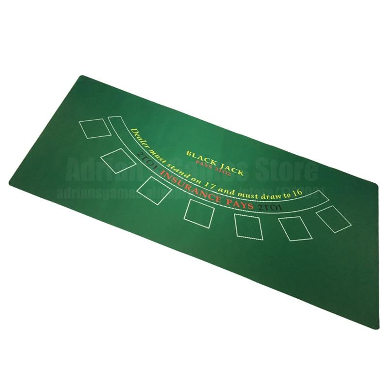 180 90cm blackjack gummi poker tisch tuch schwarz jack layouts 6 spieler poker tischdecke matte tapis