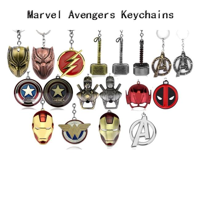 Búa Thor Marvel Móc Khóa SuperHeroe Avengers Mặt Dây Chuyền Móc Khóa Chữ MỘT Móc Khóa Porte Clef Chaveiro Người Sắt Đựng Chìa Khóa