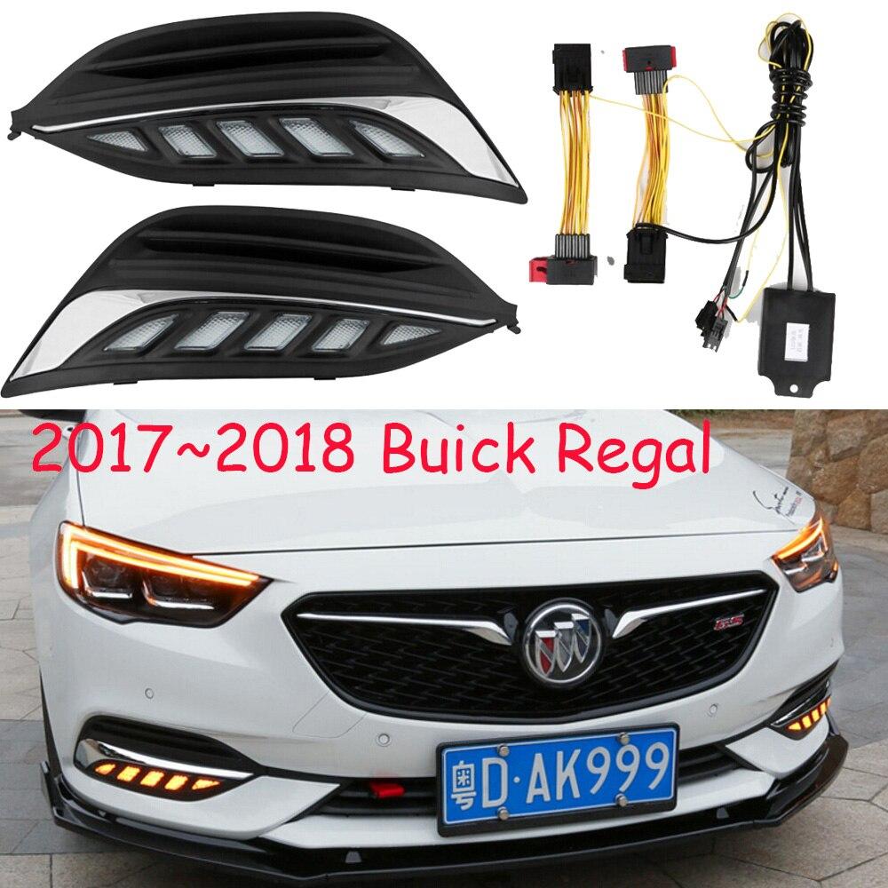 Buck Regal feux de jour; 2017 ~ 2018/2009 ~ 2012, accessoires de voiture, crosse, Enclave, Encore, GT, XT, GL8, LED, antibrouillard royal