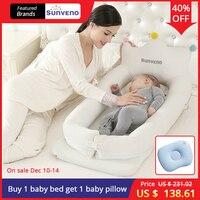 SUNVENO ребенка со спальная кроватка кровать переносная детская кроватка складной мобильного автомобиль кровать Путешествия гнездо кроватка