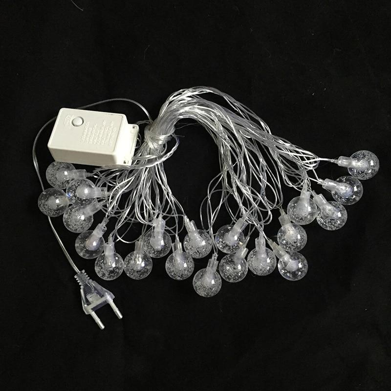 10M 50LED Globe String Light Crystal Bubble Balls Жатын - Мерекелік жарықтандыру - фото 6