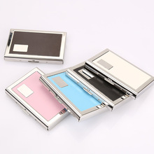 Wholesale Stainless Steel Card Holder Men Id Holders Travel ID Credit Women Rfid Wallet Metal Case Porte Carte