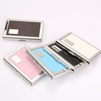 Wholesale Stainless Steel Card Holder Men Id Holders Travel ID Credit Women Rfid Wallet Metal Case Porte Carte - discount item  40% OFF Wallets & Holders