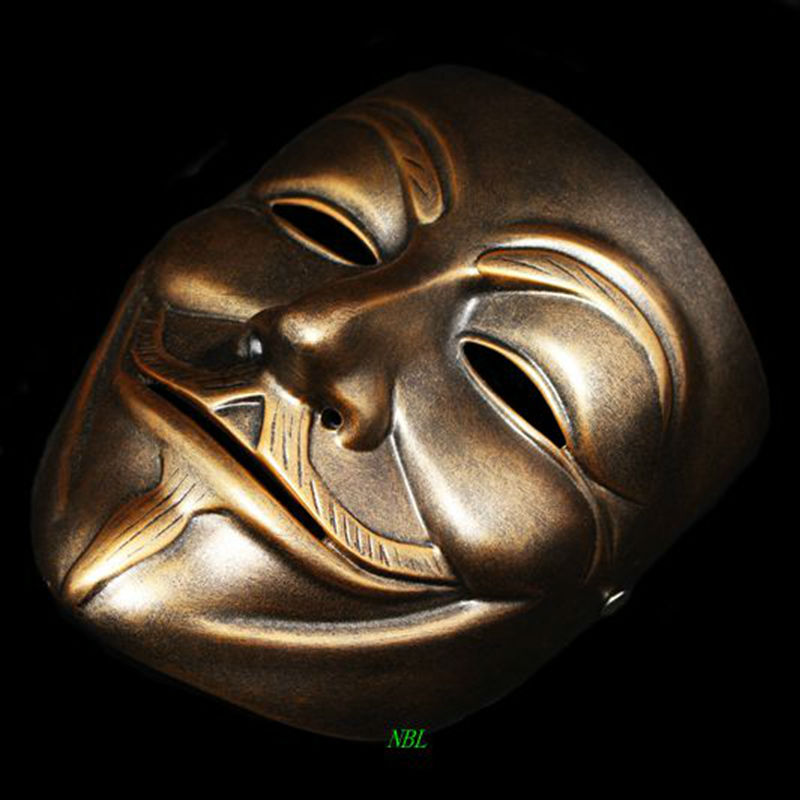 Image 3 - Halloween Masquerade Anonymous Guy Fawkes Fancy V Masks V for Vendetta Resin Mask Dress Adult Costume Cosplay Party Props-in Party Masks from Home & Garden