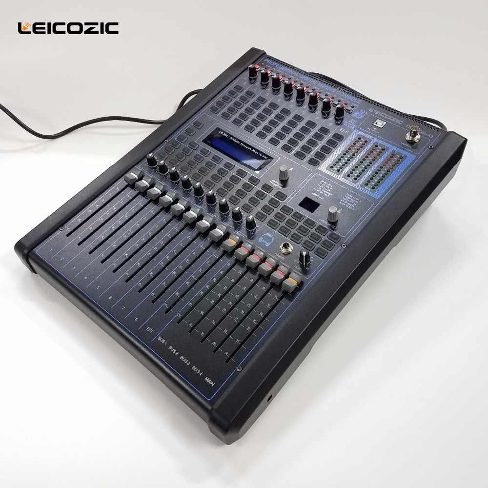 Leicozic 8-канальный цифровой смесители Профессиональный цифровой микшерный пульт консоль диджея консоли DGM840 музыкальный ауодиопроцессор цифровой мини-миксер для монтажа в стойку