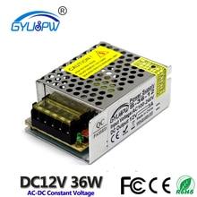 Высокое качество 36 Вт 3A 12 в импульсный источник питания DC SMPS вход AC100V-240V 12В выход для светодиодные ленты светильник