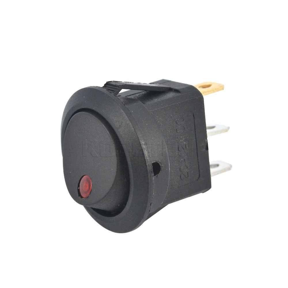 Kebidumei SPST светодиодный выключатель с подсветкой 3 булавки панель управления автомобилем лодка тумблер ВКЛ-ВЫКЛ рокер DC 12 В электронные аксессуары для авто