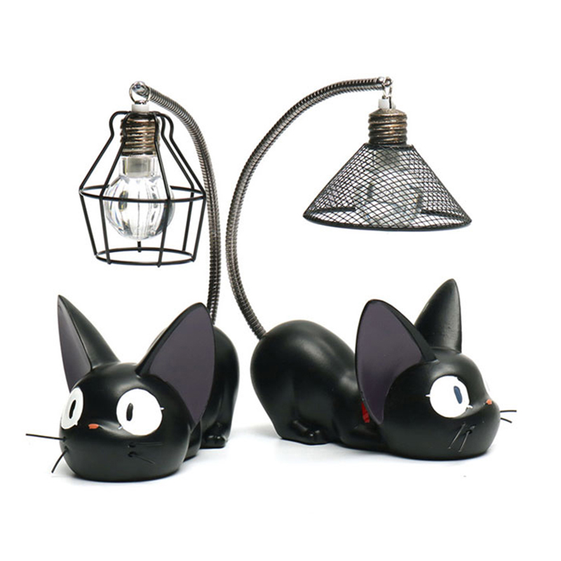 LED Night Lamp Creative Resin Cat Animal Night Lamp Ornaments Home Decoration Kitty Table Lamp Children's Cartoon Room Lamp