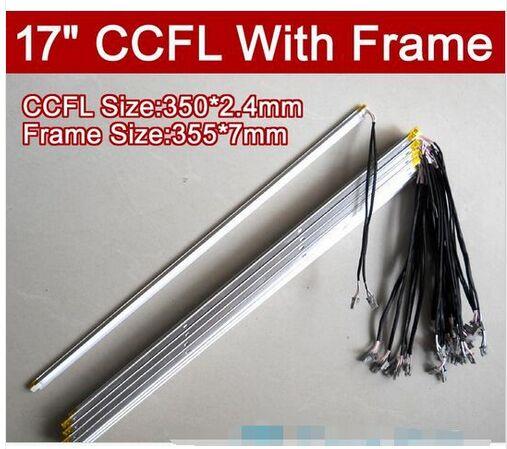 10 PCS 17 polegadas'' CCFL lâmpadas dupla com quadro, backlight lâmpada monitor LCD com habitação, CCFL com tampa 350 MM, QUADRO: 355mm x 7mm