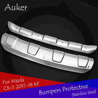 Car Front and Rear Bumpers For Mazda CX5 CX 5 2017 2018 KF Exterior Garnish Guard Stainless Steel Garnish Protective