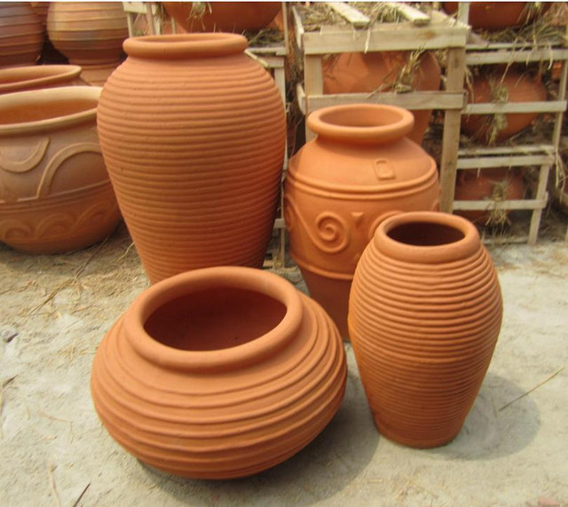[Pottery Factory Outlets Landscape Greening Projects Red