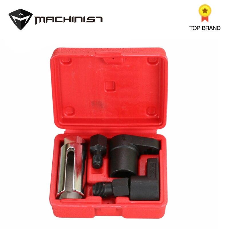 5 pz Sensore di Ossigeno Chiave a tubo Filo Chaser Strumento Kit Misura per Tutte Le Auto O2 Presa di Rimozione di Installazione Installare Offset vuoto