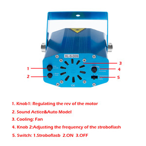 Image 5 - Haut parleur Laser Bluetooth, USB DJ, avec télécommande, Mini lampe de projecteur RGB