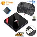 Amlogic S912 3 ГБ RAM 32 ГБ ROM Android 7 В B0x H96 pro + Quad Core BT4.1 4 К Wi-Fi H.265 Gigabit Lan Мини-ПК Smart TV B0x + I8 клавиатура