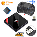 S912 Amlogic 3 GB RAM 32 GB ROM Android TV Box H96 Pro + Plus Quad Core 4 K H.265 Wi-fi Gigabit Lan Mini PC Smart TV Box + Teclado I8