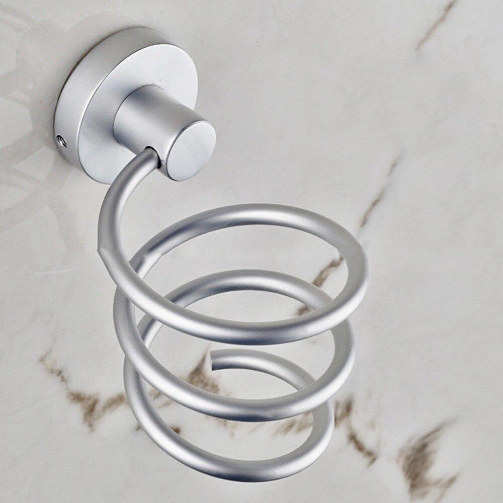 Buying  2018 Spiral Wall Mounted Hair Dryer Storage Organizer Rack Holder Hanger Using in Bathroom Salon St