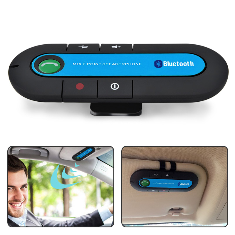 Sans fil Bluetooth v4.1 pare-Soleil Mains Libres Kit De Voiture Transmetteur FM MP3 Lecteur de musique Pour Téléphone Mobile Double Téléphone Connecter BT850