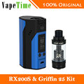 100% Original WISMEC Reuleaux RX200S Temp Mod 200W Vaping and GeekVape Griffin 25 RTA Rebuildable Atomizer Electronic Cigarette