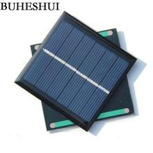 BUHESHUI 0.6W 3V Mini Solar Panel Solar Cell DIY Panel Polycrystalline Education 65*65*3MM 10pcs/lot High Quality Free Shipping