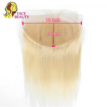 Facebeauty 13x6 Ear To Ear Lace Frontal Closure Ombre 1B/613 Blonde Remy Peruvian Straight Pre Plucked Frontal with Baby Hair(China)