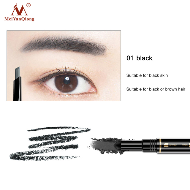 Air Cushion Triad Eyebrow Pencil Waterproof Longlasting Triangle Natural Make Up Eye Brow Liner With Brush Makeup Tools 3in1 1