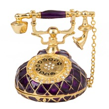FLETCHER Brand Exquisite Vintage Purple Telephone Style for Home Decor