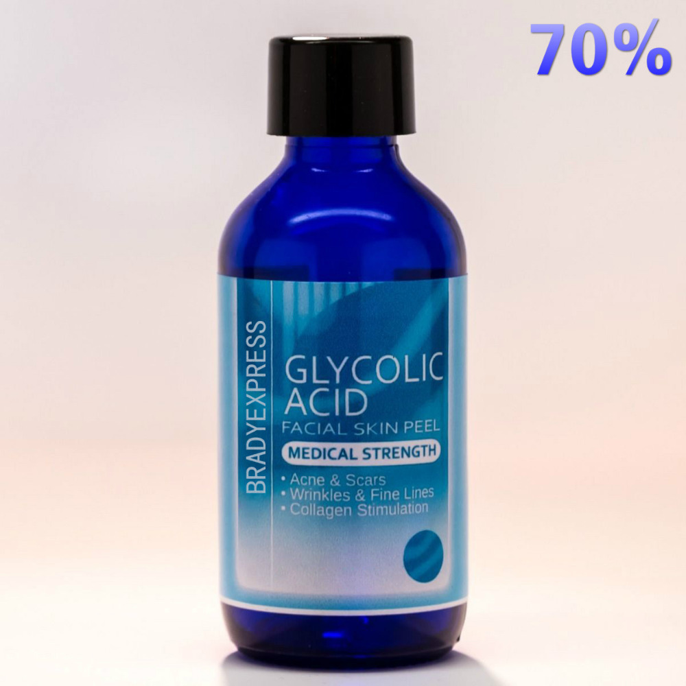 NEW 70% GLYCOLIC ACID Chemical Peel Kit Medical Grade 100% Pure! Acne Scars Wrinkles FREE SHIPPING