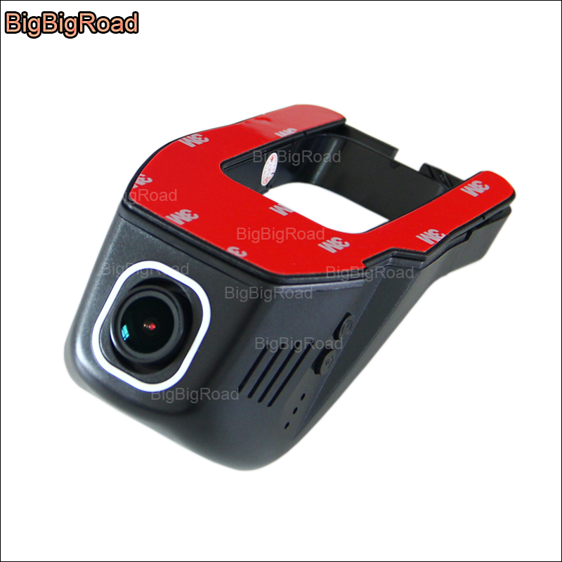 BigBigRoad For Ford Focus 2 Hatchback Car Wifi DVR Video Recorder FHD 1080P Novatek 96655 car black box Dash Cam night vision bigbigroad for ford mondeo 2015 high configuration car wifi dvr video recorder dash cam car black box keep car original style