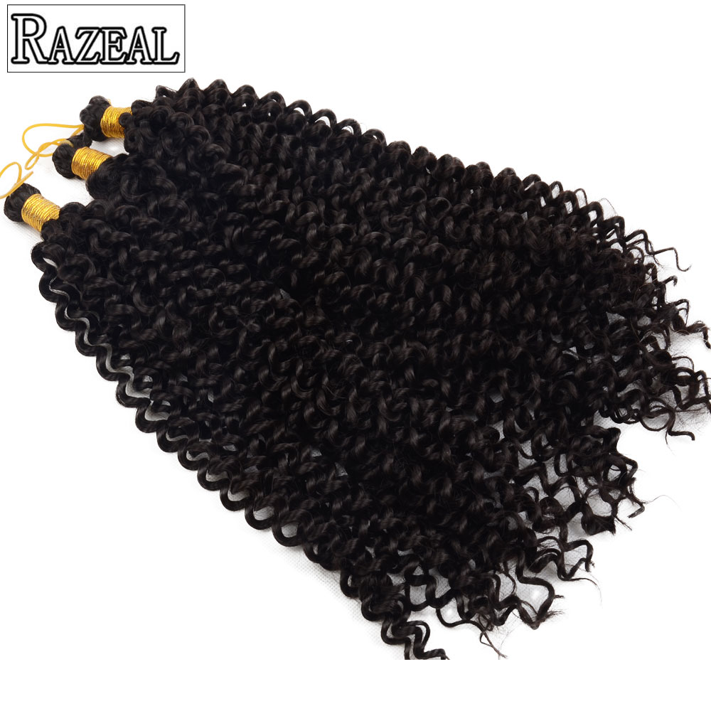 Razeal Crochet Braids Water Wave Blond, Grå, Brun Syntetisk Braiding - Syntetiskt hår - Foto 5