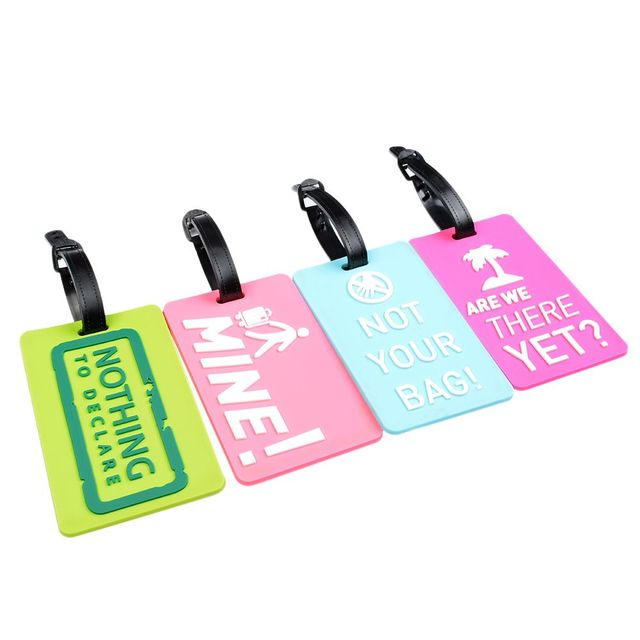New Suitcase Luggage Tags Identifier Label ID Address Holder Environmental Protection Cover Luggage Tag Travel Accessories Bag Parts & Accessories