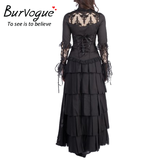 Burvogue 2017 Solid Skirts Women Sexy Long Skirts for Shopping Black Fluffy Skirt Fashion Ladies Party Skirts