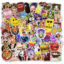 Фотография Hot Sale 100 Pcs Mixed Stickers for Luggage Laptop Decal Toys Bike Car Motorcycle Phone Snowboard Funny Doodle Cool DIY Sticker