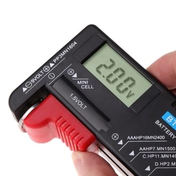 2019 nuevo BT168D probador de capacidad de batería Digital LCD para 9V 1,5 V AA pilas AAA C D instrumentos de análisis de medición