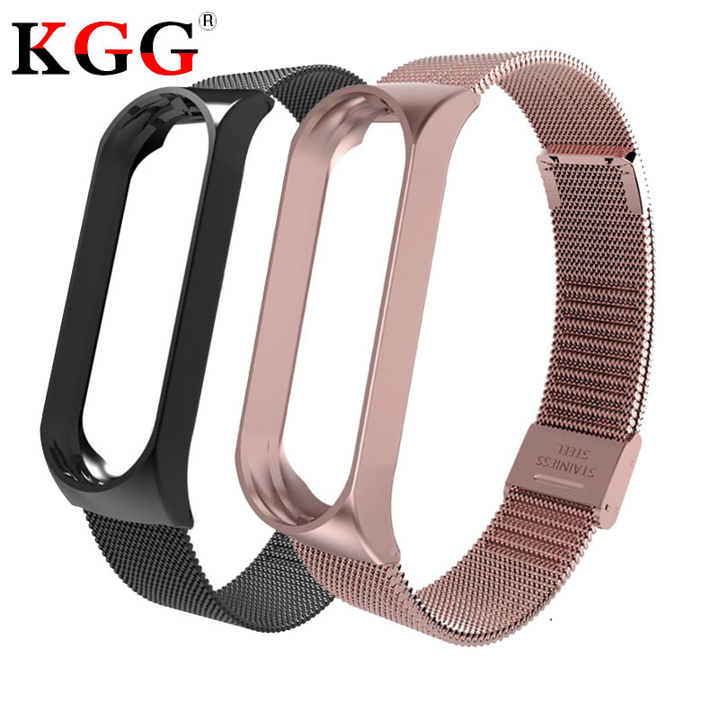 Bracelet for Xiaomi Mi Band 3 Mi Band 4 Sport Strap metal wrist strap For xiaomi mi band 3 accessories bracelet Miband4 Strap(China)