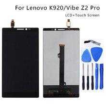 Geeignet für Lenovo K920 LCD 6,0 zoll touch screen digitizer komponenten für Lenovo Vibe Z2 Pro smartphone reparatur teile + Freies Werkzeug