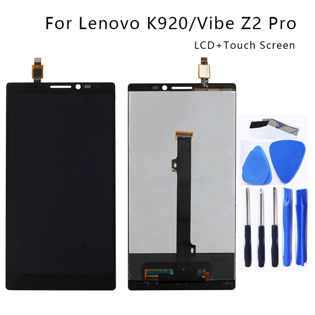 Suitable for Lenovo K920 LCD 6.0 inch touch screen digitizer components for Lenovo Vibe Z2 Pro smartphone repair parts+Free Tool