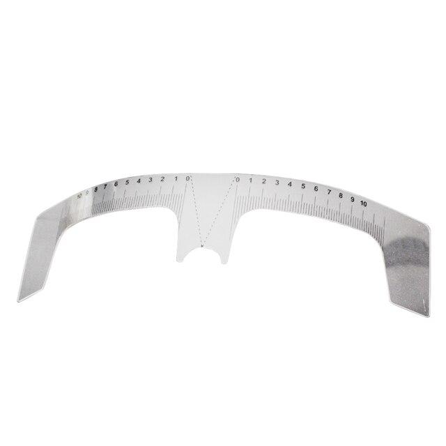 1PC Reusable Semi Permanent Eyebrow Ruler Eye Brow Measure Tool Eyebrow Guide Ruler Microblading Calliper Stencil Makeup 20cm 3