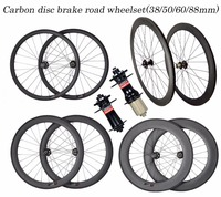 Upgrade quality carbon cyclo cross road wheels disc brake 60mm 3K clincher tubular rim 23/25mm UD OEM decals available wheelsets
