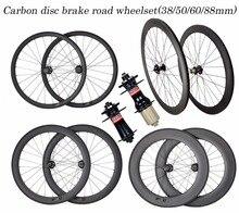 Обновления качество углерода велокросс катки дисковый тормоз 60 мм 3 K трубчатый довод обода 23/25 мм UD OEM отличительные знаки доступны колесных