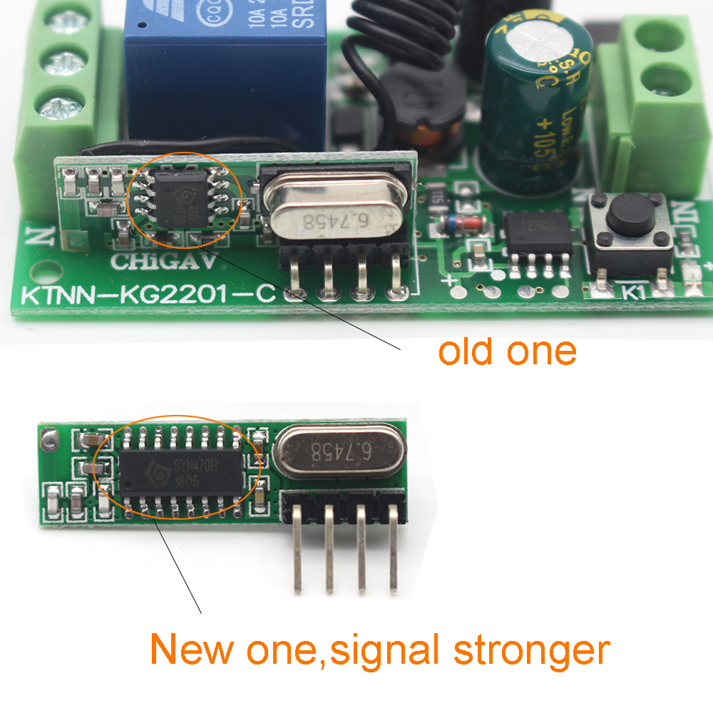 4pcs Set 433 Mhz Rf Receiver Switch Module Wireless Diy Kits Simple Remote Control Circuit Without Microcontroller Homemade For Controller Parts Stronger Signal In Controls From Consumer Electronics