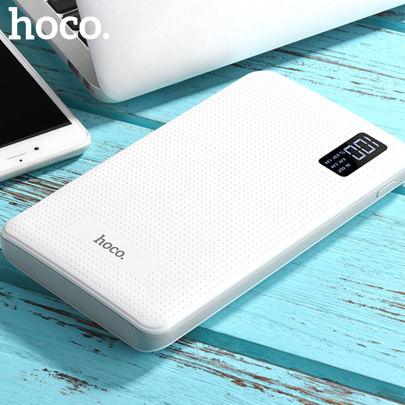 HOCO Power bank 30000mAh Portable PowerBank Phone quick Charge USB Output External Batteries Pack LCD Display Mobile Charger